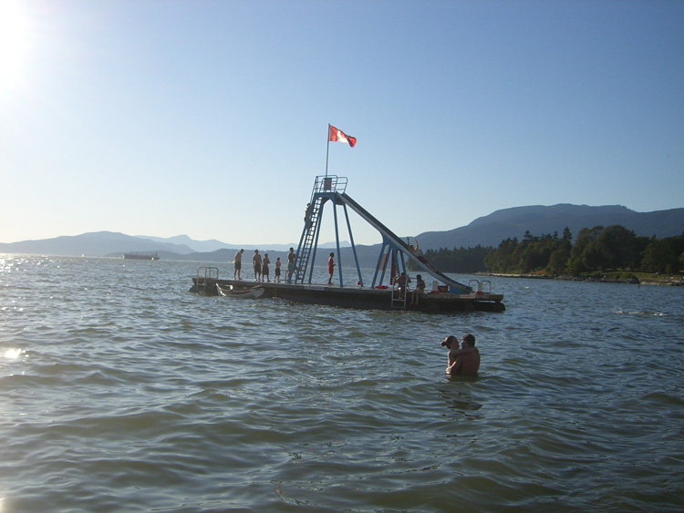 Vancouver English Bay Waterslide